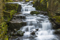 Lumsdale falls in Matlock, UK Royalty Free Stock Photos