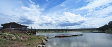 Luna湖全景,白色山,亚利桑那 库存图片