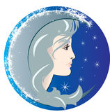Luna. This is a illustration for design books, websites and more royalty free illustration