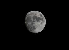 Luna alla notte Fotografie Stock Libere da Diritti