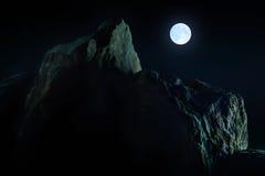 Luna alpestre Imagen de archivo