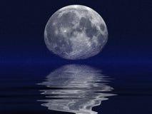 Luna & oceani Immagine Stock