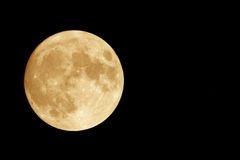 Luna anaranjada Fotos de archivo