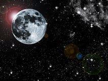 Luna astratta Fotografie Stock Libere da Diritti