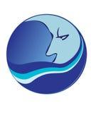 Luna azul de dibujo fotografía de archivo libre de regalías