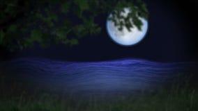 Luna azul y agua