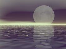 Luna bianca Fotografie Stock