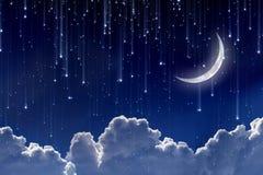 Luna in cielo notturno Immagine Stock