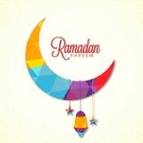 Luna colorida para la celebración del Ramadán Fotografía de archivo