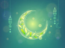 Luna creativa para la celebración de Ramadan Kareem Fotos de archivo libres de regalías