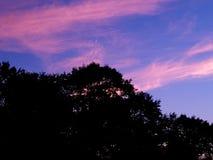 Luna creciente hermosa sobre Ohio Imagen de archivo
