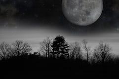 Luna crepuscolare grigia Fotografia Stock Libera da Diritti