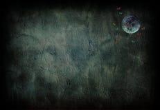 Luna de Grunge Imágenes de archivo libres de regalías