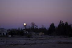 Luna de la madrugada Imagen de archivo libre de regalías