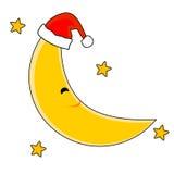 Luna de la Navidad Fotografía de archivo libre de regalías