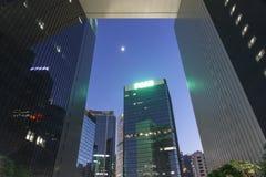 Luna de las oficinas gubernamentales centrales Foto de archivo libre de regalías