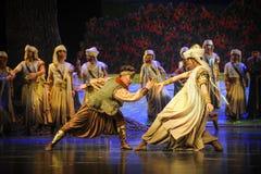 Luna de lucha-Hui del ballet sobre Helan Imagen de archivo libre de regalías