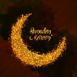 Luna de oro para la celebración del Ramadán Fotos de archivo