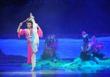 Luna del ballet de la muchacha-Hui de Han sobre Helan Imágenes de archivo libres de regalías