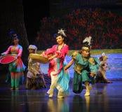 Luna del ballet del salto-Hui de la cadera sobre Helan Fotografía de archivo libre de regalías