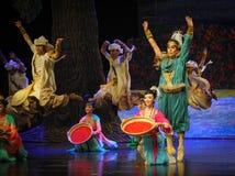 Luna del ballet del salto-Hui sobre Helan Fotos de archivo