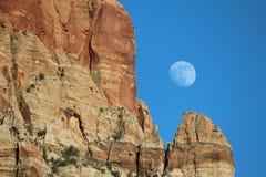 Luna del barranco Imagenes de archivo