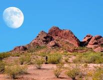 Luna del deserto Fotografie Stock