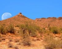 Luna del desierto Imagen de archivo libre de regalías