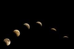 luna del eclipse Fotografía de archivo