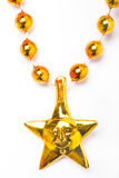 Luna del oro/ornamento de la estrella Imagen de archivo