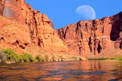 Luna del río Colorado Imágenes de archivo libres de regalías