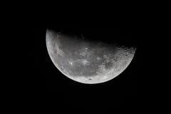 Luna del terzo trimestre Fotografia Stock