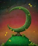 Luna dell'albero Immagini Stock