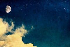 Luna dell'annata Immagini Stock Libere da Diritti