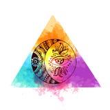 Luna dell'elemento del tatuaggio illustrazione di stock