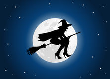 Luna della strega Immagini Stock Libere da Diritti