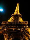 Luna della torre di Eifel Fotografie Stock Libere da Diritti