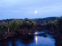 Luna di autunno Fotografie Stock Libere da Diritti
