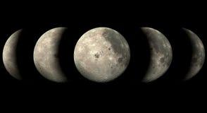 Luna di fase Fotografie Stock