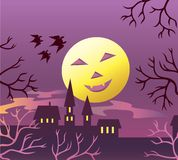 Luna di Halloween. Immagine Stock