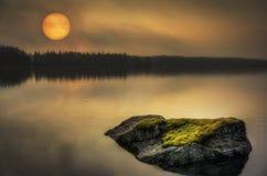 Luna di mattina Immagini Stock