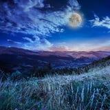 Luna di mezzanotte in altopiano Immagini Stock Libere da Diritti