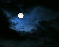Luna di notte Fotografia Stock