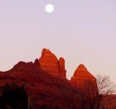 Luna di Sedona Fotografie Stock Libere da Diritti