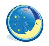 Luna di sonno nell'icona royalty illustrazione gratis