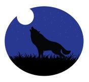 Luna di urlo del lupo royalty illustrazione gratis