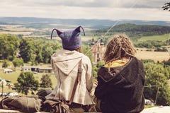 Luna divertente di festival di musica in repubblica Ceca Fotografie Stock Libere da Diritti