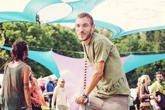 Luna divertente di festival di musica in repubblica Ceca Fotografia Stock