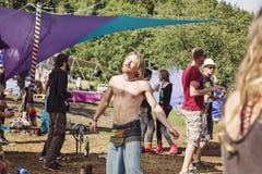Luna divertente di festival di musica in repubblica Ceca Fotografia Stock Libera da Diritti