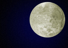 Luna e cielo Fotografia Stock
